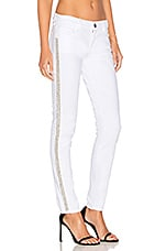 Etienne Marcel Distressed Studded Skinny in White