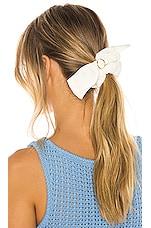 Ettika Bow Hair Scrunchie in White