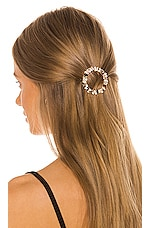 Ettika Hair Pin Set of 2 in Clear & Gold