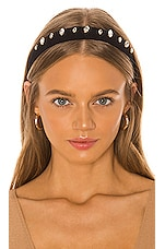 Ettika Gemstone Headband in Black & Clear