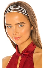 Ettika Rhinestone Headband in Silver