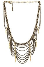 Statement Draped Bib Necklace in Brass