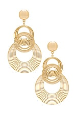 Ettika Art Deco Earrings in Gold