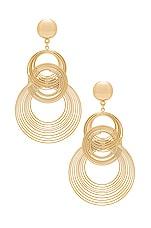 Ettika Art Deco Earrings in Gold