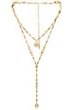 Ettika Seashell Lariat in Gold