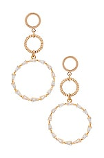 Ettika Triple Hoop Earring in Gold