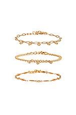 Ettika Dainty Bracelet Set in Gold