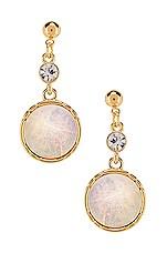 Ettika Dangle Earring in White & Gold