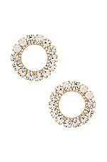 Ettika Circle Stud Earring in Gold