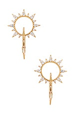 Ettika Sun Earring in Gold