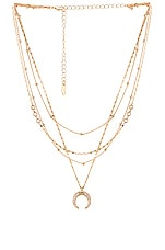Ettika Layered Moon Necklace in Gold
