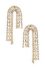 Ettika Arch Chain Earrings in Gold