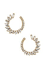Ettika Round CZ Earrings in Gold