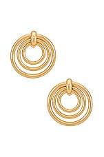 Ettika Layered Circle Earrings in Gold