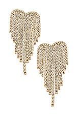 Ettika Crystal Earrings in Gold