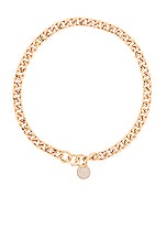 Ettika Pendant Choker Necklace in Gold