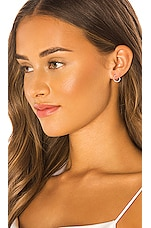 Ettika X LUXE 14k Gold & White Diamond Stud Earring in Gold