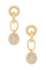 Ettika Dangle Earrings in Gold