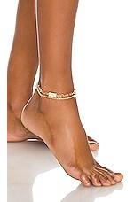 Ettika Anklet Set in Gold