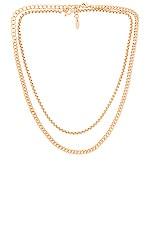 Ettika Chain Necklace Set in Gold