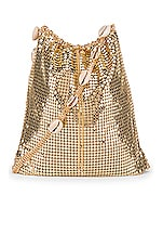 Ettika Shell & Gold Mesh Shoulder Bag in Gold