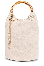 Ettika Shell Bucket Bag in Cream