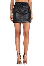 Game Face PU Skirt in Black