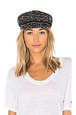 Eugenia Kim Marina Hat in Cream & Black