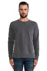 Roger Crew Sweatshirt in Aged Black