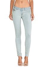 Sydney Skinny Jean in Worn Silver