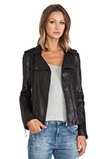 Dylan Moto Jacket in Black