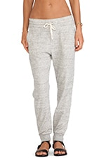 Bleeker Zip Back Sweatpant in Heather Grey
