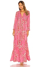 eywasouls malibu Cora Dress in Pink & Red Charm Print
