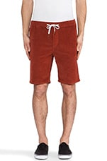 Iggy Corduroy Short in Red