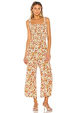 FAITHFULL THE BRAND Bernard Jumpsuit in Apricot Le Rose Floral