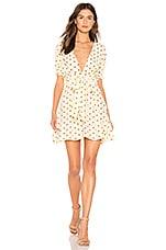 FAITHFULL THE BRAND Vanelli Mini Dress in Lemon Sylve Dot