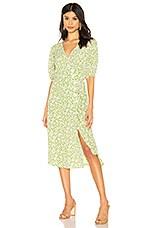 FAITHFULL THE BRAND Marta Dress in Avocado Green Bella Floral