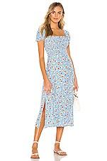FAITHFULL THE BRAND Castilo Midi Dress in Blue Jasmine Floral