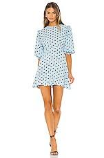 FAITHFULL THE BRAND Edwina Mini Dress in Sylve Dot Print