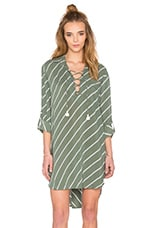 FAITHFULL THE BRAND Walker Shirt Dress in Pablo Print Green