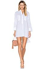 Baia Shirt Dress in Plain White