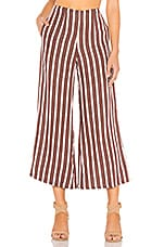 FAITHFULL THE BRAND Carmen Pants in Grape Mazur Stripe