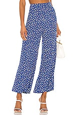 FAITHFULL THE BRAND Gabrielle Pants in Blue Monette Floral
