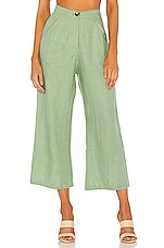 FAITHFULL THE BRAND Bernie Pants in Pine