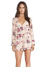 FAITHFULL THE BRAND Reflections Playsuit in Sundance Beige Print