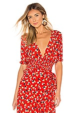 FAITHFULL THE BRAND First Light Top in Red Jasmine Floral