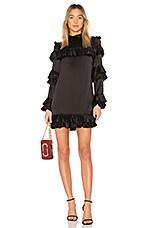 FRAME Ruffle Dress in Noir
