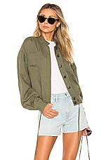 FRAME Double Pocket Jacket in Army Green