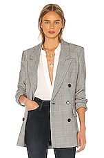 FRAME Double Breasted Blazer in Noir Multi