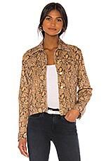 FRAME Le Vintage Jacket in Coated Python